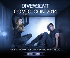 Dreams DO come true. Shailene and Theo will be at the Lionsgate booth at 2014 Comic-Con International! Stop by for a signing at 3-4 PM Saturday July 26 and follow along with #DivergentSDCC.