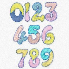 """""""Patches Numbers"""" matches Patches  Alphabet perfectly, ideal for teaching numbers & more. You get 4"""", 3"""", 2.5""""!"""