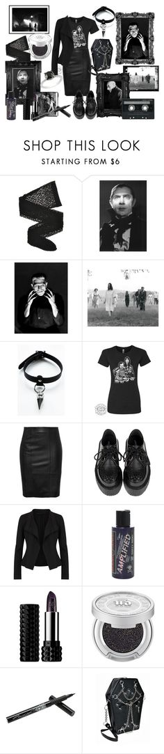 """Casual scare"" by rebel-babe ❤ liked on Polyvore featuring Wolford, Linda Horn, Twenty, Stand, CASSETTE, Donna Karan, Manic Panic NYC, Kat Von D, Urban Decay and Hot Topic"