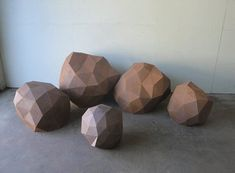 """I don't what I'd do with them, but these faceted steel """"rocks"""" are really kinda cool."""