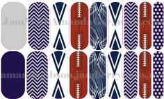 Custom Dallas Cowboys Jamberry nails! http://amandagibson.jamberrynails.net/