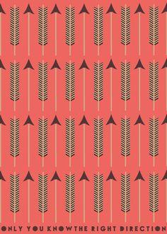 Red Funky Arrows Art Print