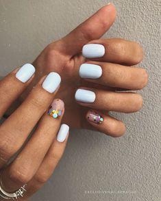 Sparkle Nails, Bling Nails, Red Nails, Pastel Nails, Nail Art Simple, Simple Nail Designs, Simple Disney Nails, Cute Nails, Pretty Nails