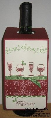 Christmas Wine Bottle Tag by Michelerey - Cards and Paper Crafts at Splitcoaststampers