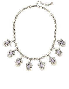 Shell and Sparkle Teardrop Statement Necklace #pastel #SS14 #Monsoonaccessorizeholiday