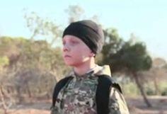 Security services are currently trying to identify the young boy, named on the ISIS terror video as Abu Abdullah al-Britani. The child is the same age as JoJo, son of runaway Jihadi bride Sally Jones, Blue Eyes, Videos, Mens Sunglasses, Bride, Children, Women, Style, Fashion, Boyfriends