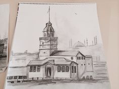 Lighthouse, Istanbul, Taj Mahal, Sketches, Drawings, Charcoal, Inspiration, Image, Google