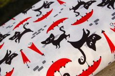 One Yard of le chat by Hoodie for Timeless Treasures by FreshStash, $9.50