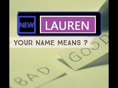❤ Know Anyone By their Name - Lauren - Name Meaning-First Name ★҉ -Know Anyone By their Name  ★҉ Neimology Science ® is the study of the placement of letters in a name, that shows us how to find the patterns that will reveal natural tendencies in a person character, thinking, feeling,learning style and so much more.