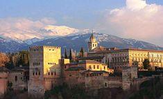 La Alhambra de Granada con Sierra Nevada al fondo. Espectacular ¡¡¡