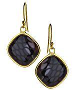 Athra NJ Inc. Square Purple Black Reptile Print Drop Earrings purchase at http://rstyle.me/~qd4m