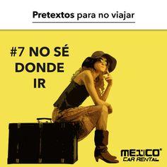 Si no sabes a dónde ir, puedes visitar páginas de turismo o nuestro blog: https://mexicocarrental.com.mx/blog/ ¡Existen infinidad de lugares increíbles por conocer en México! puedes empezar por lugares cercanos tu ciudad o animarte a conocer ese lugar especial.