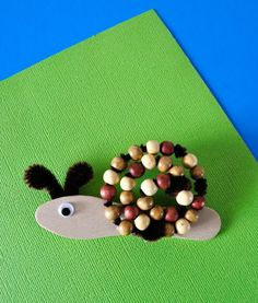 Beaded Popsicle Stick Snail