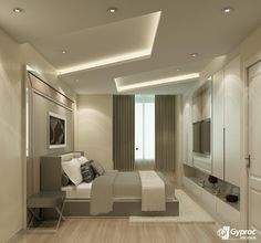 Install the best of Gyproc India #falseceilings & experience a serene & lovely bedroom. Visit www.gyproc.in