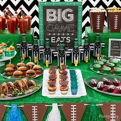 Hosting a game-day party? Serve up a winning feast of finger foods on football party supplies! Platters, drink cozies, decorations -- you name it!