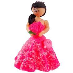 Boneca de Biscuit Debutante - Morena com Cabelos Pretos e Vestido Pink http://www.tozaki.com.br/produto/5275/boneca+de+biscuit+debutante+-+morena+com+vestido+pink+01un