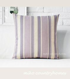 $15 | Pastel Violet Gingham | Throw Pillow Cover #throwpillows #pillowcover #gingham #pastelcolors