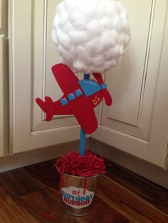 1st birthday airplane centerpiece arewallace@yahoo.com for information and pricing