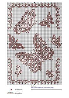 papillon - butterfly - point de croix - cross stitch - Blog : http://broderiemimie44.canalblog.com/