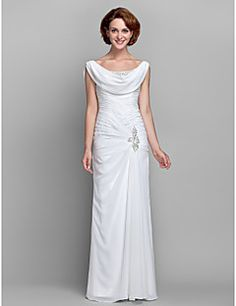 Sheath/Column Scoop Chiffon Mother of the Bride Dress (61247... – USD $ 179.99