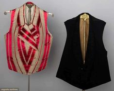 Man's Silk Striped Vest, America, 1840s, Augusta Auctions, November 13, 2013 - NYC, Lot 167