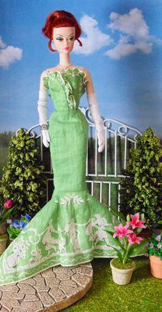 Grecian Green for Silkstone Barbie by HankieChic on Etsy