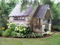 Are you looking garden shed plans? I have here few tips and suggestions on how to create the perfect garden shed plans for you. Little Cottages, Cabins And Cottages, Log Cabins, Garden Cottage, Home And Garden, Backyard Cottage, Dream Garden, Fairytale Cottage, Rustic Backyard
