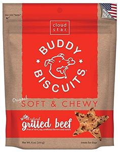 Cloud Star Soft and Chewy Buddy Biscuits - Grilled Beef Flavor ** New and awesome dog product awaits you, Read it now  : Dog treats