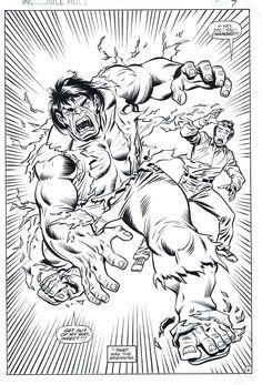 sal buscema Comic Book Artists, Comic Artist, Comic Books Art, First Hulk, Hulk Movie, Sal Buscema, Hulk Art, Hulk Avengers, Black And White Artwork