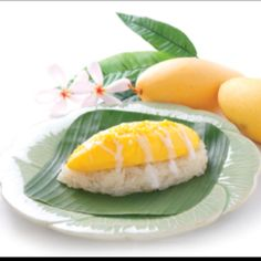 """Mango on Sticky Rice"" Thai Dessert by Buono. see u in Bangkok-Thailand@Thaifex World Of Food 2012"