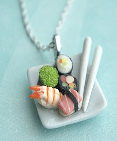 sushi plate necklace