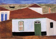 Alfredo Volpi - Casas na Praia (Itanhaém)