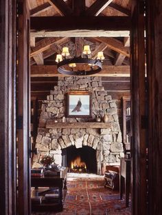 River rock fireplace on Nantucket Island MA Chris Belanger