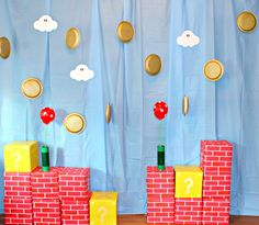 Super Mario Brothers Party Decor