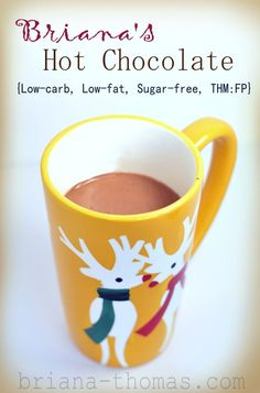 Briana's Hot Chocolate {Low-carb, Low-fat, High-Protein, Sugar-free, THM:FP} - I like it so much that I named it after myself...haha. ;)