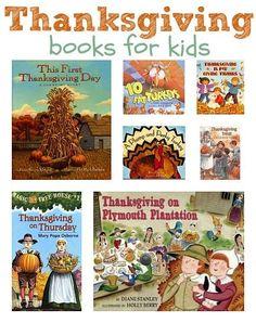 A list of thanksgiving books.