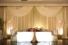 Kings Table, Head Tables, Seating Charts, Wedding Decorations, Wedding Ideas, Valance Curtains, Backdrops, Olympia, Design