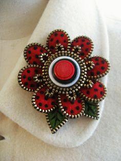 needle felt and zipper pin
