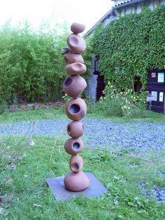 Garden Totem More - Garden Art - - Garden Art Sculptures Sculpture Art, Garden Sculpture, Pole Art, Atelier D Art, Garden Totems, Wedding Art, Outdoor Art, Yard Art, Clay Art