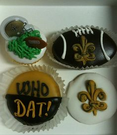 New Orleans Saints Cupcakes