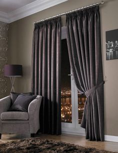 extreme effect modern design  luxurious drapes | Signature Wide-Stripe Silk Dupioni Drapes and Curtains