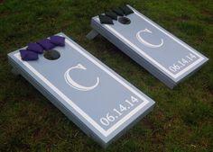 Floral Monogram Wedding Cornhole Boards by JRHCornhole on Etsy ...