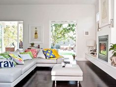 """""""Sometimes just adding a new cushion — or two, or three — to your sofa gives your friends the impression you've redecorated the entire space...shhh!"""" —Leah Viney, Adelaide, Australia"""