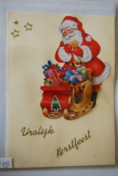 0019, Kerstman met slee vol cadeau's