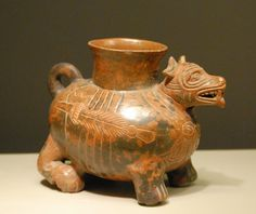 Mexican Pottery Dog Vessel-an interesting accent piece (if the St. Louis museum will let me borrow it) Mexican Hacienda, Mexican Folk Art, Pottery Designs, Pottery Art, Coil Pots, Aztec Art, Effigy, Museum Collection, Ancient Art