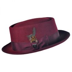 Classic Pork Pie Hat available at  VillageHatShop Mens Dress Hats 222b2f6c808