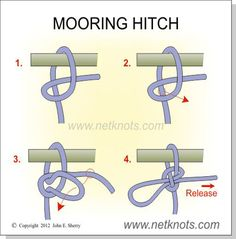 Mooring Hitch - How to tie a quick-release hitch