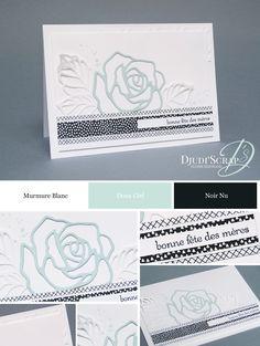 "Djudi'Scrap Stampin'Up! - Carte Fête des Mères ""Thinlits Roseraie / Rose Garden Thinlits"""
