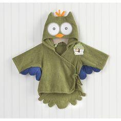Baby Aspen My Little Night Owl Hooded Terry Spa Robe in