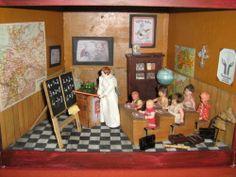 Altes Klassenzimmer / Puppenstube / Schule   eBay